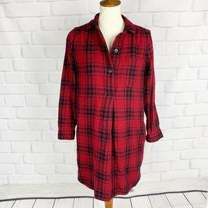 Madewell Latitude Buffalo Check Flannel Shirtdress